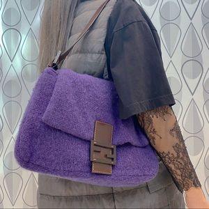 FENDI Wool Mamma baguette Shoulder bag
